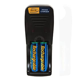Amazon - Overnight AA Battery Charger w/ 4 AA Batteries - $5.99 shipped