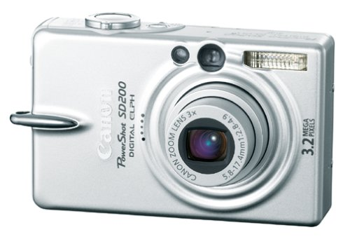 Canon Powershot SD200 3.2MP Digital Elph Camera with 3x Optical Zoom