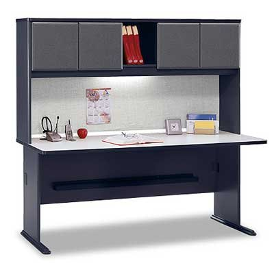 Bush Series A 72 inch Desk with Hutch - Slate