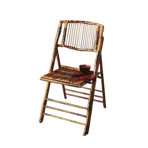 Bamboo Folding Chairs - Set of 2