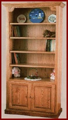 2-Door Bookcase-Cherry (Washington Stain)
