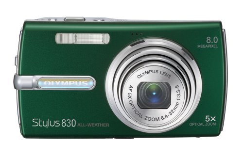 Olympus Stylus 830 8MP Digital Camera with Dual Image Stabilized 5x Optical Zoom (Green)
