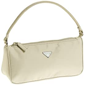 Prada Women's MV633 Mini Nylon Handbag, Lavanda Cream