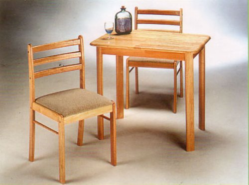 BEAUTIFUL NEW ALL NATURAL SOLID WOOD TABLE SET
