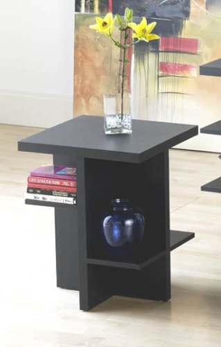 Contemporary Black End Table 