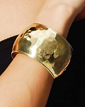 bebe.com : Wide Hammered Bangle from bebe.com