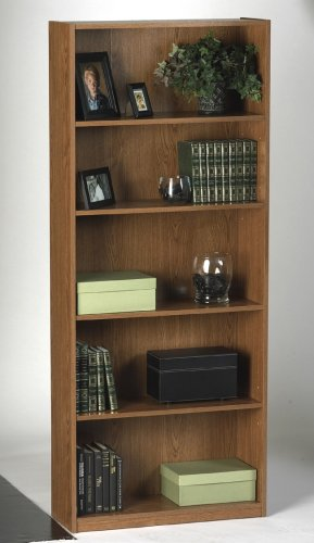 Ameriwood 03353GM 5-Shelf Bookcase - Manor Oak