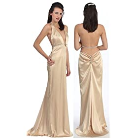 ivory formal evening gown