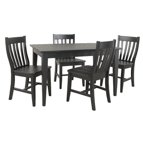 Carolina Cottage Prairie Dining Table, Antique Black