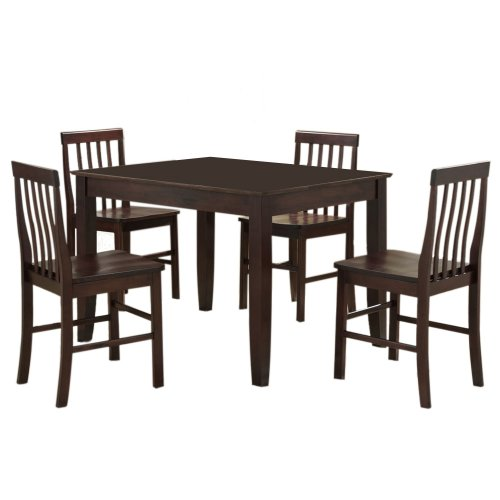 Walker Edison 5-Piece Solid Wood Dining Set