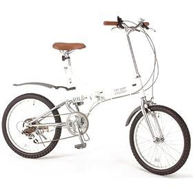 【クリックで詳細表示】B-GROW 20インチ折畳み自転車 艶消しカラーシリーズ グローイングフラット 艶消しホワイト BF206 -WH