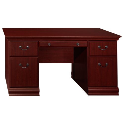 Bush Furniture Birmingham Executive 60-Inch Executive Desk, Harvest Cherry