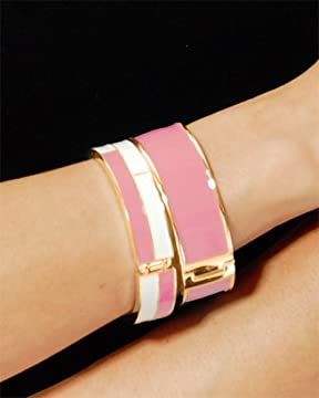 bebe.com : Enamel Color Block Bangles from bebe.com