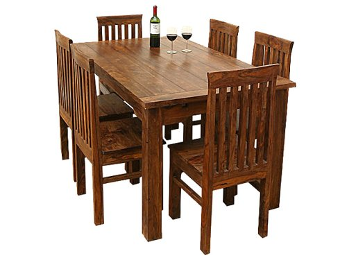 Unique Mission 7 Pc Kitchen Dining Table Set Furniture