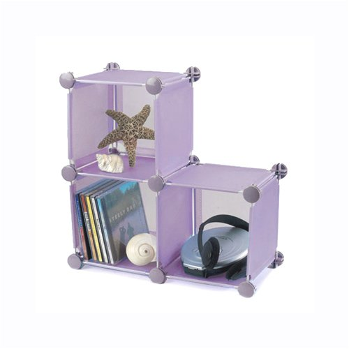 Small Storage Cubes - Set of 3 - Purple by Industrial Wire Products