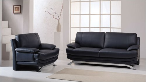 Global Furniture USA 9250-BL Series Wilcox 3 pc. Leather Living Room Set