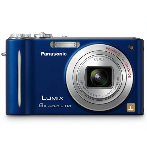Panasonic Lumix DMC-ZR3 14.1 MP Digital Camera with 8x Optical Image Stabilized Zoom and 2.7-Inch LCD (Blue)
