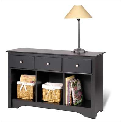 Prepac BLC-4830 Black Sonoma Living Room Console Table