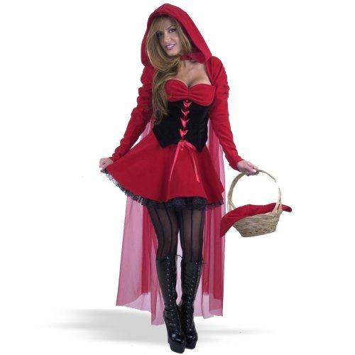 Sexy Girls in Velvet Riding Hood Adult Costume