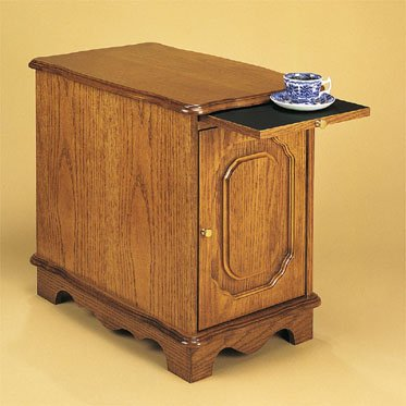 Heirloom Oak Magazine Cabinet Table