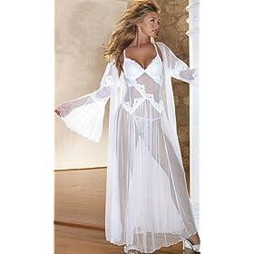 Bridal White Long Gown & Robe Set