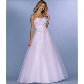 Sean 320 White Strapless Ballgown