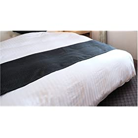 【クリックでお店のこの商品のページへ】ホテル羽毛ベッドカバー(デュベタイプ) WD(ワイドダブル)サイズ セット 白ストライプ dube-WD