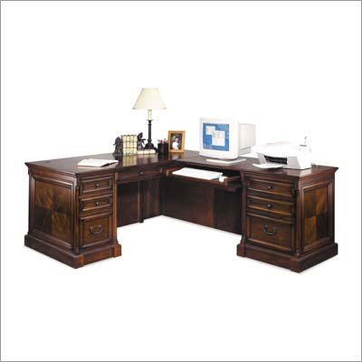 Kathy Ireland Home by Martin Furniture Mt. View Office Executive L-Shaped Desk and Return Set (Right