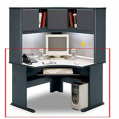 Advantage White SpectrumSlate Gray Corner Desk