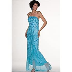 Lined Made Strapless Gown