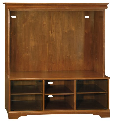 Bush Furniture Visions Entertainment Center, Field Maple