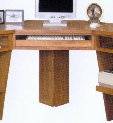 Rustic Oak Corner Office Desk
