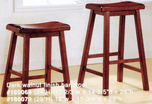 24 inch H Set of 2 Solid Wood Barstools