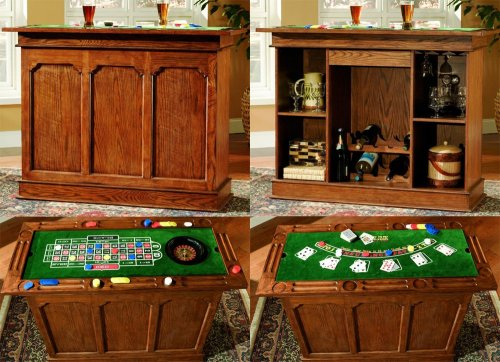 Tahoe Antique Oak Gaming Bar