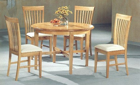 Set of 2 Contemporary Style Maple Finish Dining Chairs