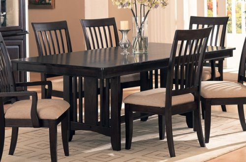 Sunset Collection Cappuccino Finish Wood Formal Dining Table
