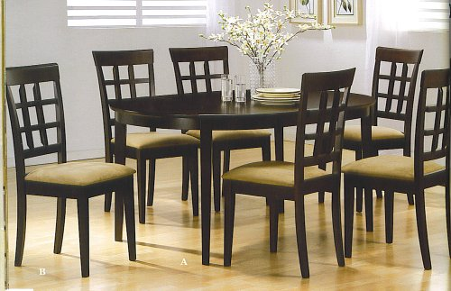 KITCHEN TABLE W/ 4 CHAIRS ,RICH CUPPUCINO FINISH