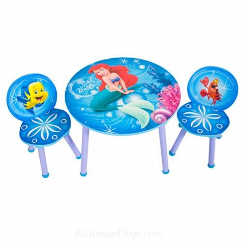Home Office Furniture: Little Mermaid Round Table and Chair Set