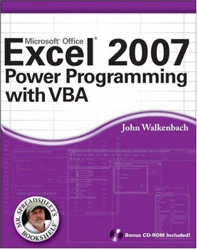 john walkenbach power programming with vba pdf