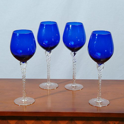 Cobalt Goblets - Set of Four