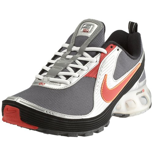 Foot and Shoes: Nike Air Max 180+ Gray Red Mens Running Shoes iPod