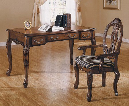 Harding Writing Desk and Arm Chair Set