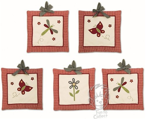 Lambs and Ivy Secret Garden Wall Hanging Set of 5