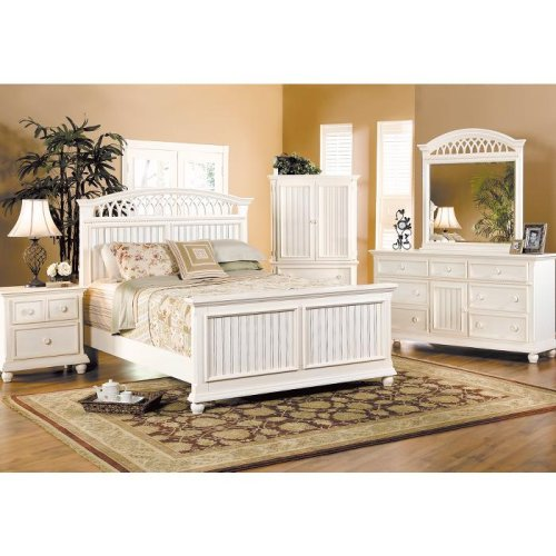home office furniture cottage cove white panel 5 pc queen