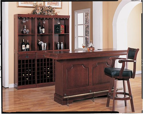 Cherry Finish 3 Piece Traditioanl Bar Set