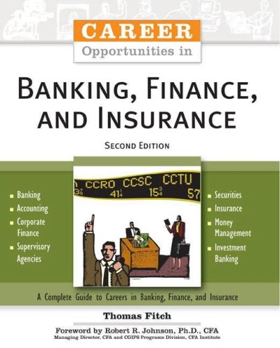 Career Opportunities in Banking, Finance, And Insurance (Career Opportunities)