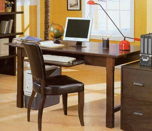 Wood Grain Finish Desk And Matching Chair