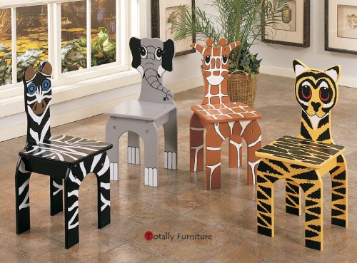 Set of 4 Animal Chairs Powell Y19