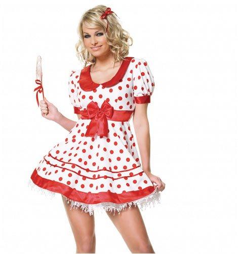 девушка в платье в горошек сексуальная фото