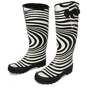 Zebra Wellington Boots